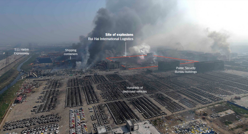 Devastating Explosions at the Chinese port city of Tianjin – Time to boost up Health and Safety Efforts