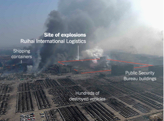 Devastating explosions at the Chinese port city of Tianjin
