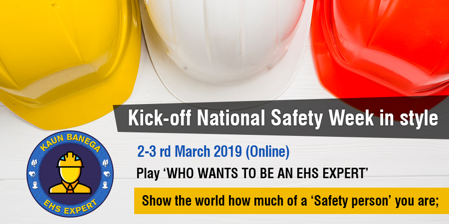 Kick-off National Safety Week in style by playing 'WHO WANTS TO BE AN EHS EXPERT'.